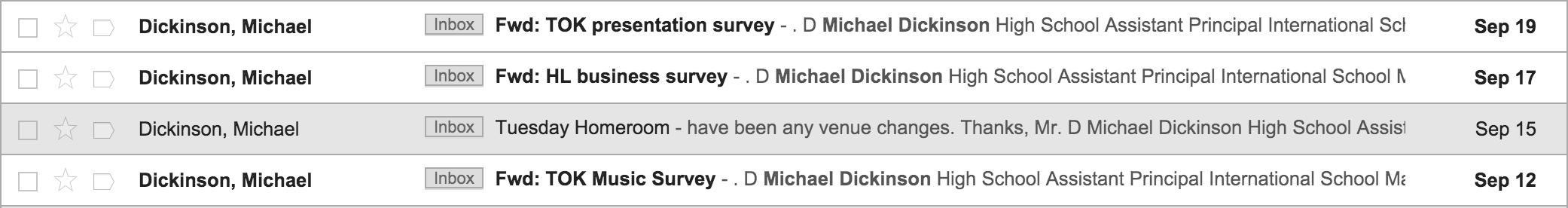 TOK Surveys